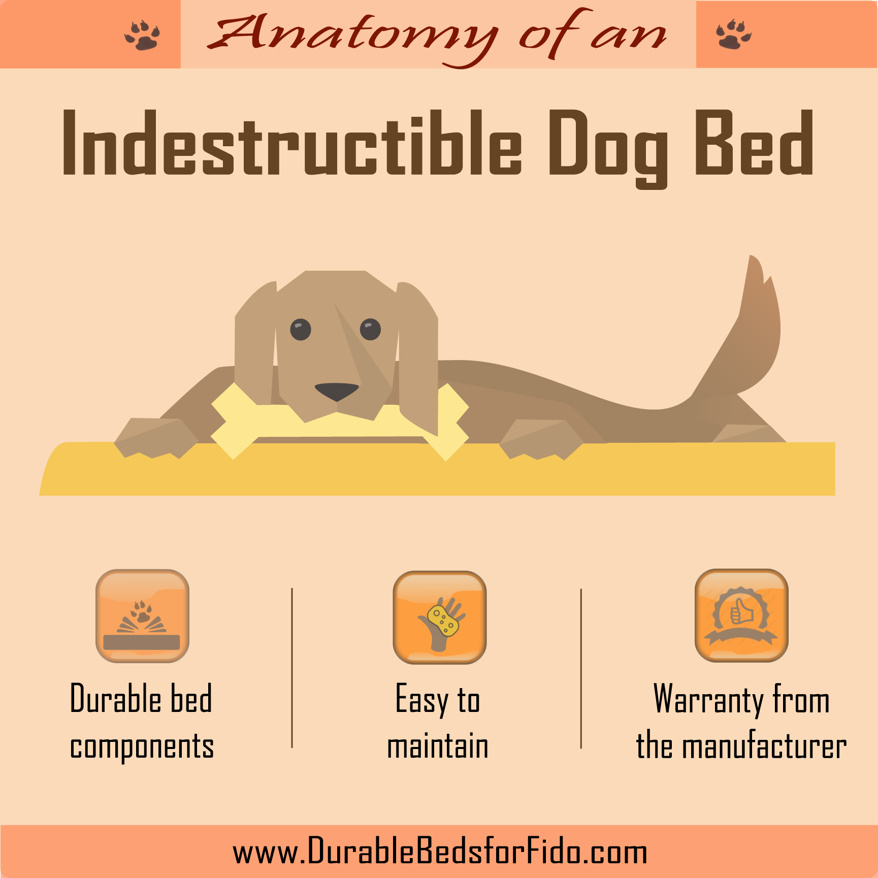 beds designer dog supplies bed indestructible memory top pet brindle foam best proof in reviews for waterproof chewers chew